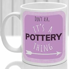 Pottery thing mug, Ideal for any Pottery maker (Pink)