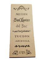 1970s Mission San Xavier Del Bac Tuscon Arizona Promotional Brochure Vintage