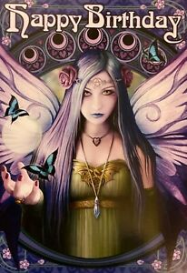 Anne Stokes Mystic Aura Pagan Wicca Greetings Card Birthday Spring Fairy AN52
