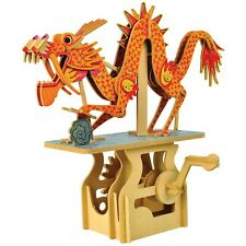 What on Earth Mechanical Dragon Puzzle - Crank Operated Kinetic Figure