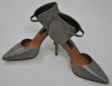Steven by Steve Madden NWT Nadene High Heel Pumps Leather Pewter Gray Sz 9 $139