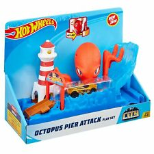 Hot Wheels® City OCTOPUS PIER ATTACK Play Set with Die-Cast Car