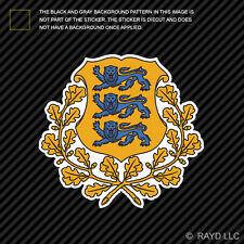 Estonian Coat of Arms Sticker Decal Self Adhesive Vinyl Estonia flag EST EE