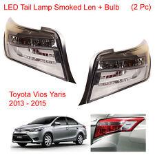 LED Tail Light Rear Lamp Smoked Len + Bulb 2Pc Fits Toyota Vios Yaris 2013 2015