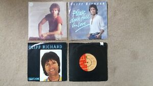 """Cliff Richard - 4 x 7"""" Singles - Where Do We Go From Here, Carrie + 2 others"""