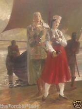 Vintage 1948 EDUARDS ZAMS (1907-1987) Oil Painting ~Latvian Artist~ Egypt?