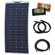 160W 12V Aluminium Reinforced Semi-Flexible Dual Battery Solar Charging Kit