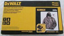DEWALT DCHJ062C1-3XL Triple Extra Large 20V/12V MAX Camo Heated Jacket Kit NEW