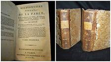 Dictionaire Portatif de la Fable – Paris  1801 Volume 1-2