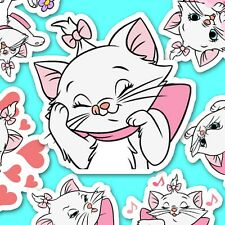"44 Marie Kitten ""The Aristocats"" Stickers, Kawaii Stickers, Disney Stickers"