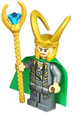 NEW LEGO LOKI MINIFIG minifigure figure 10721 iron man thor villain avengers toy