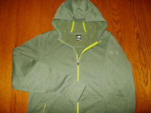 NEW THE NORTH FACE FULL ZIP MOSS GREEN HOODED SWEATSHIRT JACKET MENS LARGE