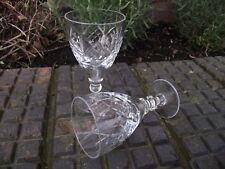 2 Vtg Liqueur Port Sherry Tot Glasses Criss Cross Diamond Vertical Oval Cut