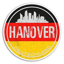 2 x 10cm Hanover Germany Vinyl Stickers - Flag Sticker Laptop Luggage #20088
