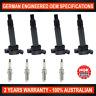 4 x NGK Iridium Spark Plugs & 4 x Ignition Coils Toyota Camry Hilux Hiace Regius