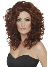 Auburn Curly Fantasy Wig Adult Womens Smiffys Fancy Dress Costume
