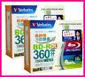 20 Verbatim 3d Bluray Disc + FREE Cleaning Cloth 50GB BD-R DL Printable Blu ray