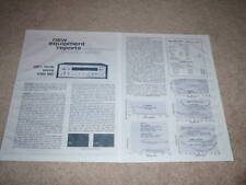 Sony STR-6120 Receiver Review, 2 pgs, 1969, Specs, Info
