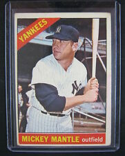 1966 Topps Baseball Mickey Mantle Card #50 EX NEW YORK YANKEES NYY HOF