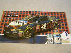 NEW NASCAR RACE FANS BUSCH BANNER SIGN BEER MAN CAVE KEVIN HARVICK No. 4