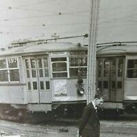 Boston MA Elevated Railway Streetcar Trolley #5917 Vintage Photo MBTA