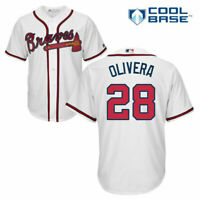 Mens Majestic Hector Olivera White Atlanta Braves Official Cool Base Jersey