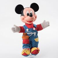 Walt Disney Co Mattel Plush Mickey Mouse Learn to Dress Me Doll Toy Vintage 1989