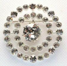 Crystal Rhinestones - Dangle - Silver Tone Brooch Pin - Signed Amnh Museum -