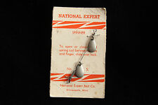 Old Vintage Fishing Lure Spinner Spoon - National Export Bait Co Card Free Ship!