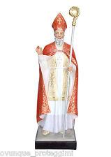 Saint Blaise fiberglass statue cm. 148 with glass eyes