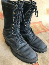 Men's Whites Boots Black Leather Logger Work Size 11.5 AAA