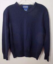 Pendleton Navy blue 100% wool sweater