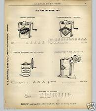 1903 PAPER AD Ice Cream Maker Freezer Peerless Frezo Iceland Hand Power Crank