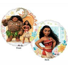 Party Supplies Decorations Girls Birthday Disney Moana 2 sided 45cm Foil Balloon
