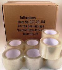 24 Rolls Carton Sealing Clear Packingshippingbox Tape 2 Mil 3 X 110 Yards