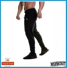Golds Gym Fitted Jog Pants Jogger Brand New Black Gym Bodybuilding