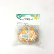 Wilton Brand Rubber Ducky 2 inch Paper Cupcake Liners Holders Baby Shower 50 ct