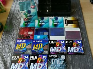 25 Stück Minidisc leer orginal verpackt TDK MD-RXG 80 Sony Color TDK Cool