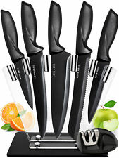 Home Hero 7 pcs Kitchen Knives Set, 5 Stainless Steel Knives + Accessories