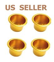 US SHIP Gold Jumbo Aluminum Poker Table Cup Holders Set of  4