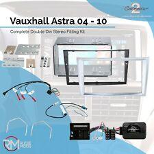 CT24VX21 vauxhall astra h 2004-09 voiture stéréo double din fascia kit argent clair