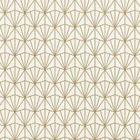 MODERN ART DECO TRIANGLES WALLPAPER ROLLS CREAM / GOLD - RASCH 434019