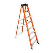VonHaus 7 1 Tread Fibreglass Ladder - Folding Steps