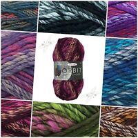King Cole ORBIT Super Chunky Acrylic & Wool Knitting Crochet Yarn 100g