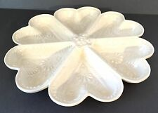 Divided Serving Dish, Porcelain, 6 Section (Heart Shaped), very detailed