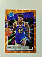 🔥James Wiseman🔥2020-21 Donruss Rated Rookie ORANGE LASER RC Warriors PSA HGA