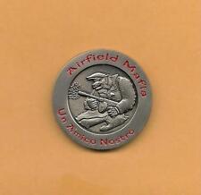 """AIRFIELD MAFIA UN AMICO NOSTRO 3CCG TINKER AFB  CHALLENGE  COIN 1 1/2"""" .8 OZ"""