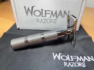Wolfman Razor WR1-DC .67 OC & .61 SB Blade Gap, Polished, Hollow WRH1 Handle