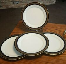 4 Dinner Plates in Legacy by Noritake Vienna Blue Band w /  Gold Trim #1 Nice!