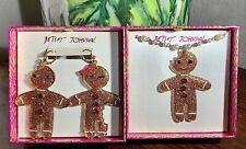Betsey Johnson Hi HO Gingerbreadman Necklace Z6